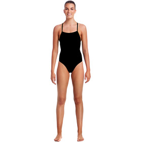 Funkita Strapped In One Piece Swimmsuit Ladies Still Black Solid